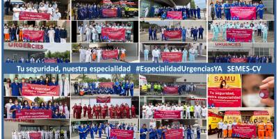 Los servicios de Urgencias y Emergencias de la Comunidad Valenciana salen a la calle el 27 de mayo, en el día internacional de la Medicina de Urgencias, a reivindicar la creación de la especialidad primaria para Medicina y Enfermería, y reconocer la labor de todos los profesionales #MUE #EUE #TES.